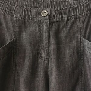 Eileen Fisher Pants - Eileen Fisher Chambray Tapered Crop Pant